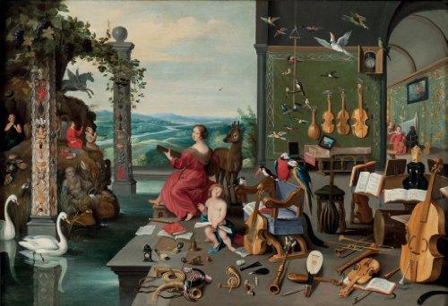 Artifact Puzzles - Bruegel Music Room Wooden Jigsaw Puzzle