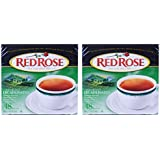 Red Rose Naturally Decaffeinated Tea 48-Count Boxes (Pack of 2)