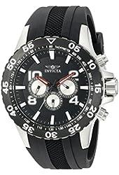Invicta Men's 20375SYB Aviator Analog Display Swiss Quartz Black Watch