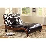 Coaster Furniture 550061 Zebra Animal Print Chaise Lounge in Mahogany 550061 at Sears.com