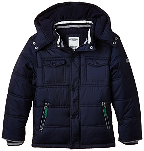SALT AND PEPPER Jungen Jacke Outdoorjacket Farmer Kap, Einfarbig, Gr. 104 (Herstellergröße: 104/110), Blau (night blue 481)