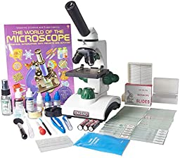 Omano OM117L-XSP2 Student Compound Microscope 40X-400X Gift Package Awarded 2016 Best Kids Microscope By TOP TEN Reviews