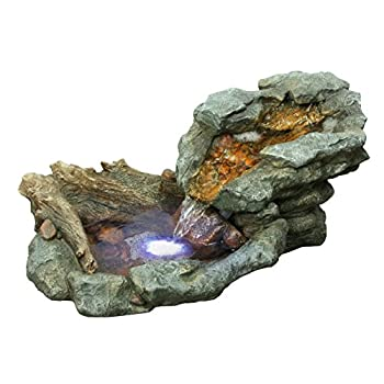 Alpine WIN568 Rock Waterfall Fountain with LED Light