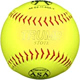 Trump® AK-EZ-11-ASA-Y AK-EZ Series 11 Inch 44/375 ASA Synthetic Leather Softball (Sold in Dozens)