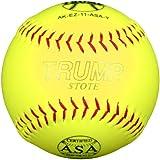 Trump® AK-EZ-11-ASA-Y AK-EZ Series 11 Inch 44/375 ASA Synthetic Leather Softball (Sold in Dozens)