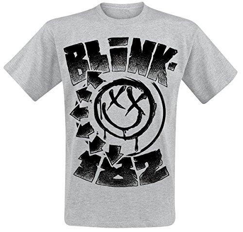 Blink 182 Stipled T-Shirt grigio sport S