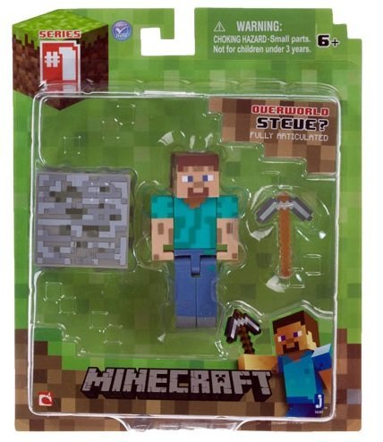 "Overworld Steve ~2.75"" Minecraft Mini Fully Articulated Action Figure Pack"