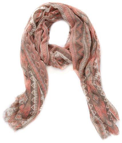 Pieces - Sciarpa, manica lunga, donna, Multicolore (Mehrfarbig (Clear Coral)), Taglia unica