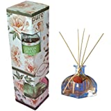 Pure Source India Good Quality Reed Diffuser / Freshener Set With One Clear Glass Vase ,8 Pcs Reed Sticks And...