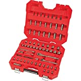 CM New Craftsman 81 Pc. Gunmetal Chrome Tool Set Standard and Metric Mechanic's Tool Set 82335L (Color: Red)