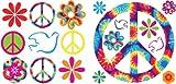 WallPops! WPD99954 Tie-Dye Peace MiniPops,  12.5 x 12.5, 4 Sheets