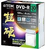 TDK 録画用DVD-R CPRM対応 16倍速対応 ホワイトワイドプリンタブル 超硬シリーズ 日本製 30枚パック(不織布ケース入) DR120HCDPWC30BFA