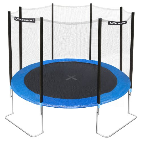 Ultrafit by Ultrasport 10ft Jumper Garden Trampoline includes 4ft Safety Net
