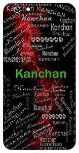 Kanchan (Gold) Name & Sign Printed All over customize & Personalized!! Protective back cover for your Smart Phone : Apple iPhone 7