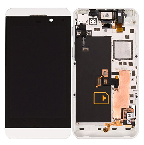 White Front Lcd Display Touch Screen Glass Digitizer With Frame Assembly Replacement Part For Blackberry Z10 4G Version -Us Cellular Parts