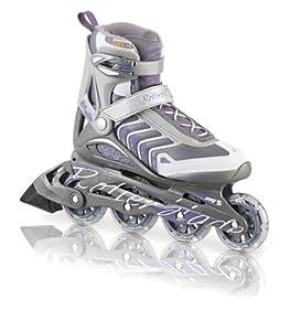 Rollerblade Women's 2013 Spiritblade W Comp Inline Skates, Silver/Purple, Women's US 9