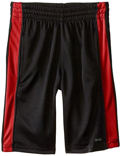 Southpole Big Boys' Boys Birdseye Basketball Shorts, Black/Red, Large