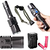 Enjoydeal Super Bright Rechargeable 2000LM USB Port CREE XML T6 LED Flashlight Torch 5-Mode (With Batteries and... at Sears.com