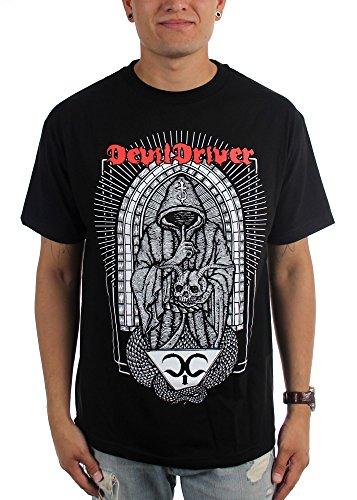 Nothing DevilDriver-Sacred-Maglietta da uomo nero Large
