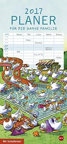 Gänse Familienplaner - Kalender 2017, Buch