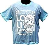 スクールアイドル ようちゃん(渡辺曜)Tシャツ サンシャインバージョン (M, ライトブルー)