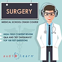 Surgery: Medical School Crash Course Audiobook by  AudioLearn Medical Content Team Narrated by Bhama Roget