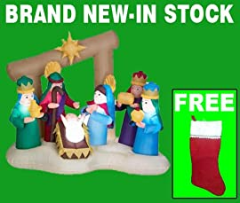 Blow up christmas yard decorations airblown 4 ft inflatable