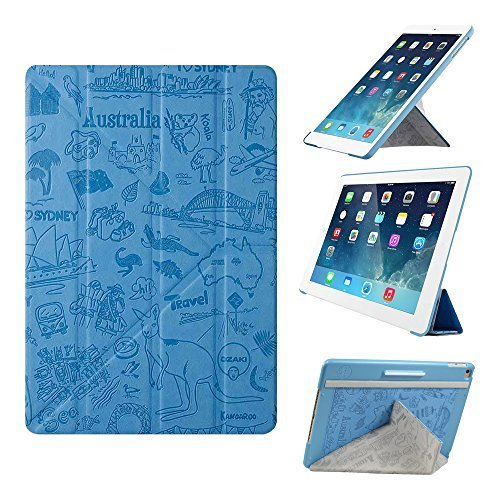 iPad Air 2 Case - OZAKI O!coat Travel Versatile New Generation 360? Multi-Angle Smart Case For Apple iPad Air 2 / Y-TECH for Steady Portrait  Landscape View / Slim  Stylish / Auto On  Off - Sydney by Ozaki [並行輸入品]