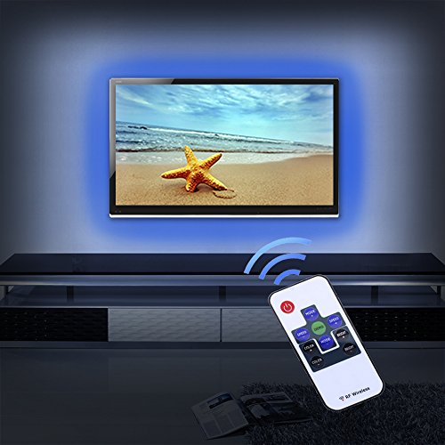 usb-bias-lighting-for-hdtv-findyouled-led-rgb-tv-backlight-kit-11-key-rf-remote-with-100cm-usb-cable