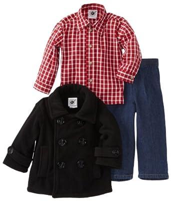 Good Lad Baby-Boys Infant Peacoat Pant Set, Black, 12