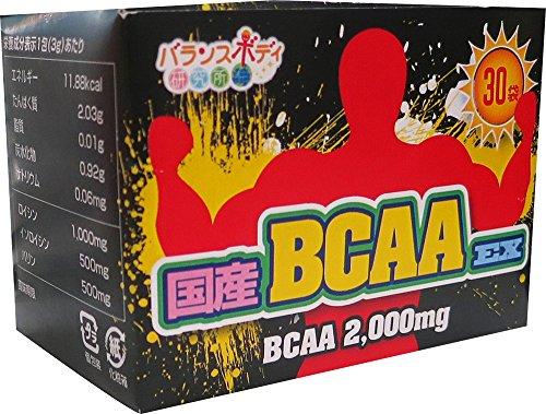 国産BCAAーEX 3g×30包 バリン・ロイシン・イソロイシン 黄金比率1:2:1で配合 グレープフルーツ味