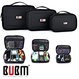 3 x BUBM MULTIPLE FUNCTION ACCESSORIES STORAGE CARRY BAG CASE USB cable memory card power cord battery storage mobile disk bag case Triple Set large, medium and small High quality Gift ideas