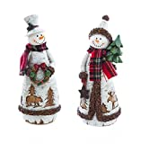 Snowman Statue (Set of 2)