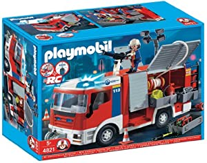 Playmobil - 4821 - Jeu de construction - Fourgon d'intervention de pompier