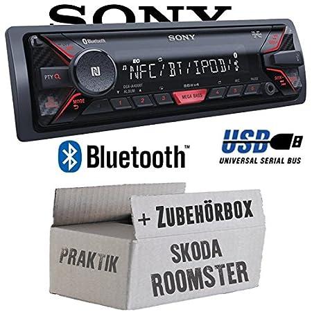 Skoda Roomster & Praktik - Sony DSX-A400BT - Bluetooth MP3/USB Autoradio - Einbauset
