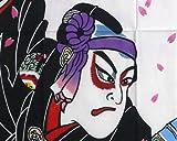 【 戸田屋商店 梨園染 】 注染 手ぬぐい 助六由縁江戸桜 ( すけろくゆかりのえどざくら )