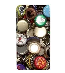 printtech Bottle Caps Back Case Cover for HTC Desire 820