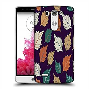 Snoogg seamless leaf pattern Designer Protective Back Case Cover For LG G3 BEAT STYLUS