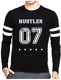 Veirdo Casual Fullsleeve T Shirt With Sports Trim For Men - Hustler 07