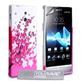 """Yousave Accessories� Sony Xperia P Tasche Silikon Blumen Biene H�lle Mit Displayschutzvon """"Yousave Accessories�"""""""