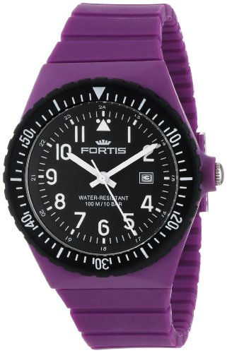 Fortis Colors C 704.14 Purple Silicone Pop-Out Watch