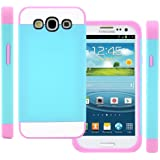 TPU Silikon Strass Glitzer Hülle Hüllen Schutzhülle Tasche Etui Protection Case Protective Cover für Samsung Galaxy S3 S III I9300 I9305 Blau+Rosa Pink+Weiß