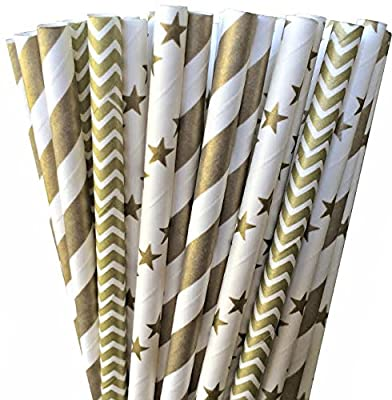 Outside the Box Papers Gold Chevron
