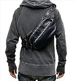 (Marib select) 斜めがけバッグ ボディバッグ 薄型で大容量 iPad miniも収納できる ワンショルダーバッグ ショルダーバッグ 鞄 バッグ オール合皮 ステッチ入り (4カラー)