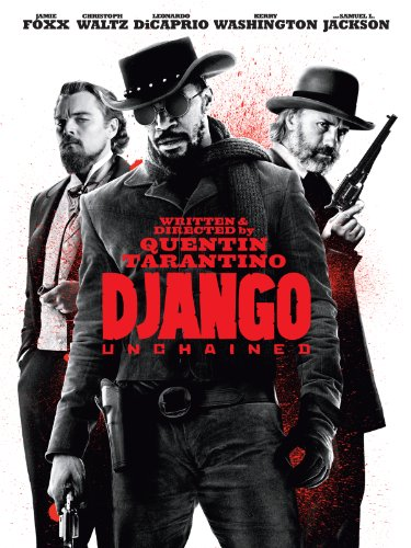 Django Unchained 2012 (Directed by Quentin Tarantino) (Rated: R) - With the help of a German bounty hunter, a freed slave sets out to rescue his wife from a brutal Mississippi plantation owner.