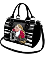 Disney Grumpy Seven Dwarfs Bag for Travel Messenger Bag Womens Handbag Shoulder bag Carry Bag Beige Have a Nice Day