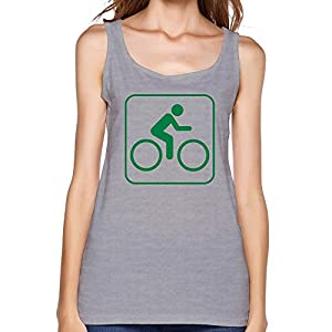 PTHF Womens Bicycle Rider Cotton Tank Tops Underwaist Gray S
