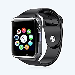ShopAIS High Quality Touch Screen Bluetooth Smart Wrist Watch with Camera & SIM Card Slot For Apple iPhone IOS, Android Smartphones Samsung,HTC,Blackberry and more - BLACK