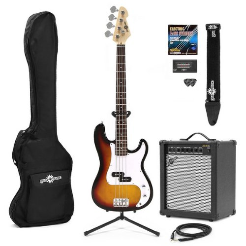 Electric G-4 Bass Guitar + 35W Amp Pack Sunburst