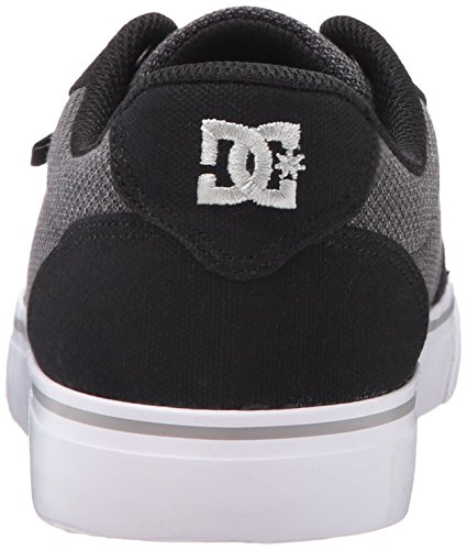DC Men's Anvil TX SE Skate Shoe, Black/Grey/Grey, 10.5 M US